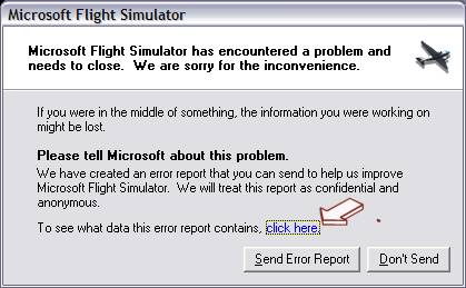 Software crash information